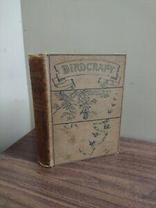 OLD Birdcraft BOOK 1895 by Mabel Wright, 1st Ed. BIRD FIELD GUIDE COLOR PLATES