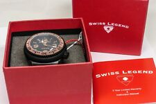 Swiss Legend Neptune Rose Gold & Black Self Winding Men's Watch - NEW IN BOX