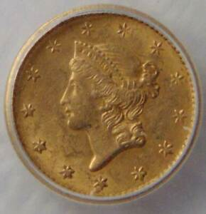 MS61, 1952 Liberty Head Gold Dollar $1 Coin, NICE!