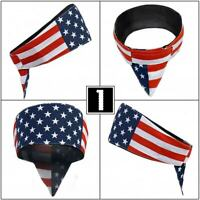 USA American Flag Road Wrap Biker Bandanna Head Wrap Sweatband Headband