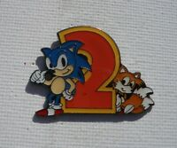 Sonic the Hedgehog 2 with Tails SEGA Old RARE Promo Enamel Metal PIN BADGE Pins