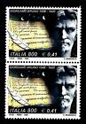 ITALIA REP. - 2000 - 4º centenario della morte di Giordano Bruno 800L. 0,41€ 2 v