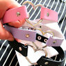 Gothic Punk Harajuku Heart Lock Heart PU Leather Choker Necklace Choker Collar