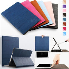 Luxury Wood Grain Leather Case Smart Cover for iPad Mini/ iPad Air/ Pro/New iPad