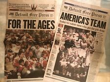 detroit red wing 2002 & Detroit Pistons 2004 champs detroit free press