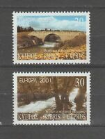 S36343 Cyprus 2001 Europa Cept MNH 2v Water
