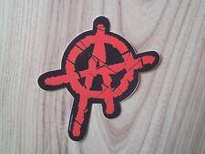 Ventana de coche etiqueta de Anarquía Punk Rock Rebel Goth Música Símbolo Rojo Pegatina de vinilo nuevo