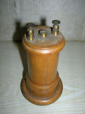 Uralter antiker Telefonhörer Fernsprechhörer Holz gedrechselt vor 1900