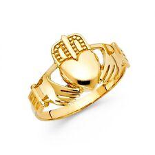 14K yellow gold Claddagh ring EJLR30617