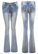 Markenlose Damen-Jeans im Schlaghose-Stil aus Denim