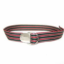 """K-GU1102 New Gucci Canvas Belt Red and Green Buckle Logo Belt 100cm Lenght 39"""""""