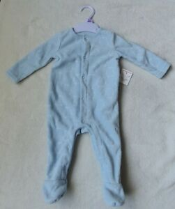 baby boys fleece sleepsuit 0/3months blue