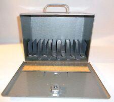 Vintage Brumberger 8mm Metal Film Storage Case Holds 12 Reels
