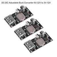 3 PCS 12v 24V to QC3.0 Step-Down Module Buck USB Converter Fast Charging Board