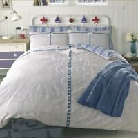 Jingle All The Way 'Natural Blue' Reversible Panel Double Bed Duvet Quilt Cover