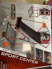 Majik 3-In-1 Arcade Sport Center - Basketball, Baseball, and Football NEW