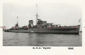 "Photograph Royal Navy. HMS ""Orion"" Cruiser. 13 Battle Honours  WW11 Fine!  1935"