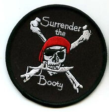 CAFE RACER ROCKERS CALICO JACK JOLLY ROGER PIRATE SKULL SURRENDER BOOTY PATCH