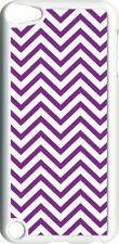 Purple Chevron Design on iPod Touch 5th Gen 5G White TPU Case Cover