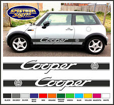 MINI COOPER BMW RACING SIDE STRIPES & COOPER CRESTS - FIT THE BEST!