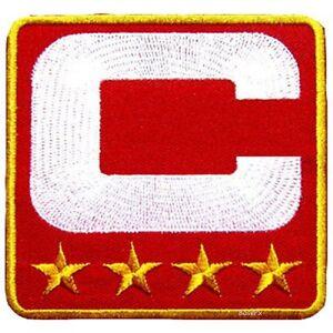 SUPERBOWL 50 DENVER BRONCOS CAPTAINS ORANGE JERSEY 4-STAR CAPTAIN'S C-PATCH