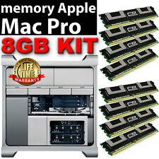 8GB 8x1GB DDR2 667MHz PC2-5300 ECC FBDIMM MAC PRO 2006 2007 RAM KIT A1186
