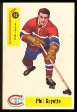 1958 59 PARKHURST HOCKEY #47 PHIL GOYETTE EX+ MONTREAL CANADIENS CARD