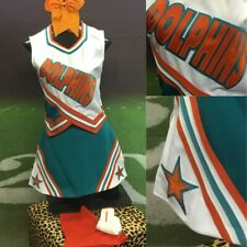 Real Cheerleading Uniform Miami Dolphins Vintage 5pc