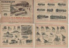 catalogo MÄRKLIN 1933 Modellbahn O Zubehör Auto & Metall Baukasten Elex  D    aa