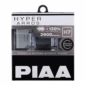 New! HE-903 PIAA H7 HYPER ARROS 3900K Uprated Headlight Bulbs +120% Brighter
