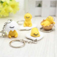 Key Unisex Egg Yolk Keychain Pendant Toys Yellow White Key Ring Creative GiftLA