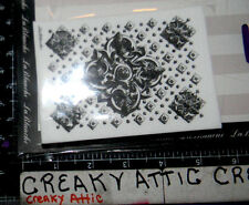 ORNATE CEILING PANEL KNOTS DECALS FOAM RUBBER STAMPS LABLANCHE #1400 NIP