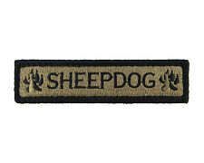 Sheepdog 1x4 Fully Embroidered Hook & Loop Morale Tags Patch CB