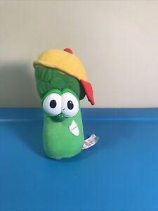 "VeggieTales Jr Asparagus 7"" Plush Talking Fisher Price 1999 Veggie SEE VIDEO"