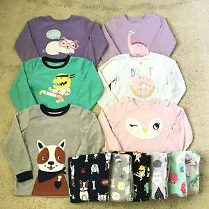Carters Fleece Pajamas 5T Lot Of 12 pcs Monster Dinosaur Dog Donut Owl L@@k!