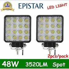 2pcs LED 48W 12V 24V Work Light spot Light Off-Road ATV SUV Boat Jeep motor DEAL