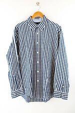 Tommy Hilfiger Herren Hemd Gr. XL Langarm Blau / Weiß Karo Shirt