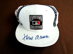 HANK AARON BRAVES HOF SIGNED AUTO COOPERSTOWN COLLECTION ALL TEAM CAP HAT JSA
