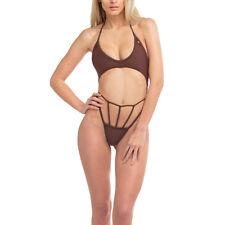 Nuevo Moda Mujeres Trikini Traje de Baño con Faldón de Una Sola Pieza Multicolor