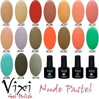 10ml Vixi NUDE PASTEL UV/LED GEL NAIL POLISH ✔ Soak Off ✔ Base Coat ✔ Top Coat ✔