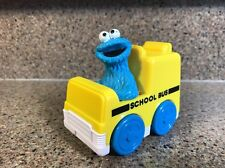 Vintage Sesame Street Tyco 1993 Cookie Monster School Bus Car  Kids Toy COLLECT