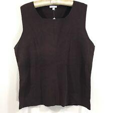 NWT Women's Peruvian Connection brown pima cotton Sleeveless tank top blouse XL