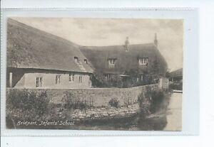 Printed postcard of the infants school Bridport Dorset good condition
