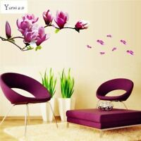 YunXi Beautiful Flowers Purple Jade Orchid Wall Stickers Home Decor For Backdrop