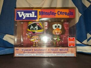Funko VYNL Yummy Mummy And Fruit Brute 2018 SDCC Summer Convention Ad Icons