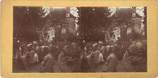 Curieuse scène de fête Mariage Moderne Amateur Stéréo Vintage citrate ca 1900