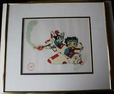 Betty Boop and Bimbo In Airplane Serigraph-Limited 1991 King Feature Syndicates