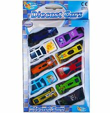 Die Cast F1 Racing Cars Vehicle Play Set Toy Car Childrens Boys Set of 10