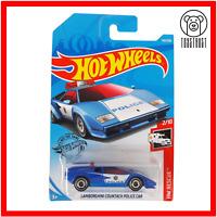 Lamborghini Countach Police Car HW Rescue 2/10 142/250 Boxed Hot Wheels Mattel