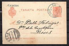 Entero Postal Año 1917 de Aranda de Duero a Reus ( Tarragona )